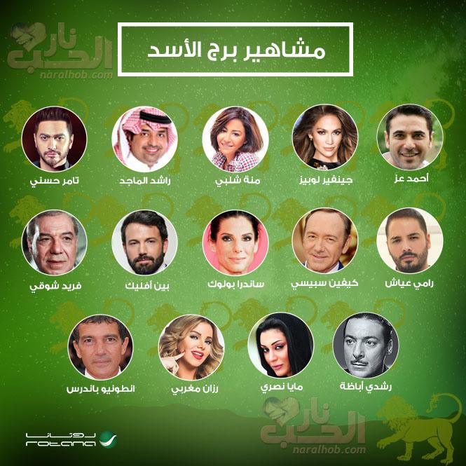 مشاهير وفنانين برج الاسد